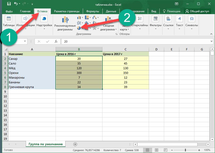 Инструкция как сделать график