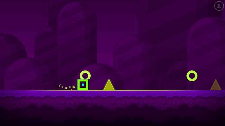 Кубик собрал бонус в Geometry Dash