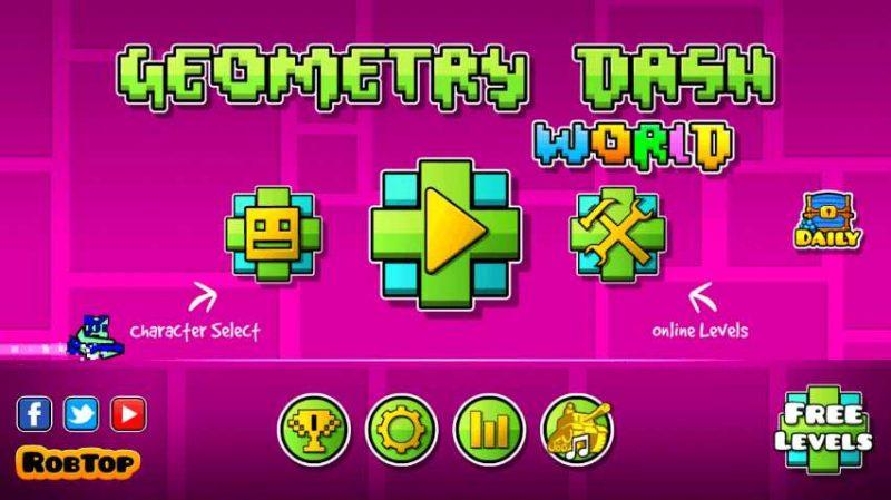 Логотип Geometry Dash