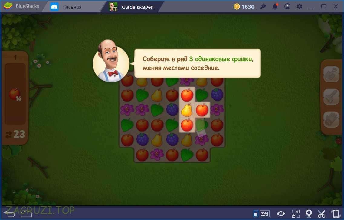 Gardenscapes на компьютере