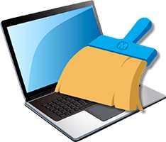 Лого очистки ноутбука от пыли