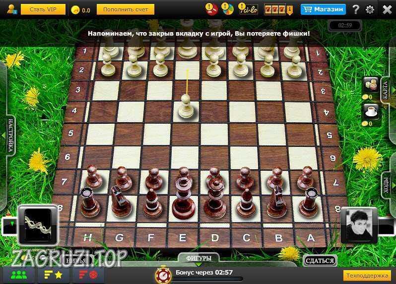 Шахматы в Одноклассниках