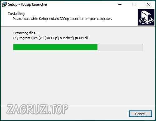 Процесс установки iCCup