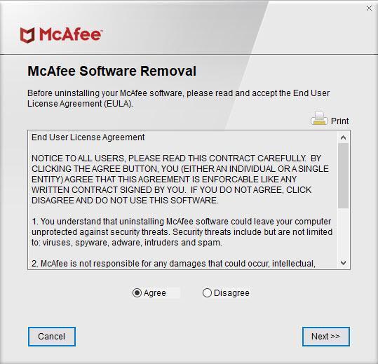 Удаление McAfee
