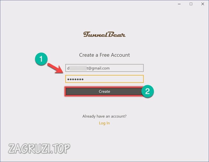 Нажимаем кнопку «Create» для создания аккаунта