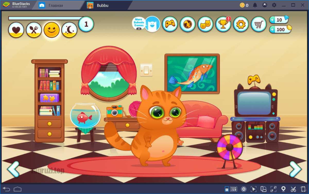 Игровой интерфейс BuBu