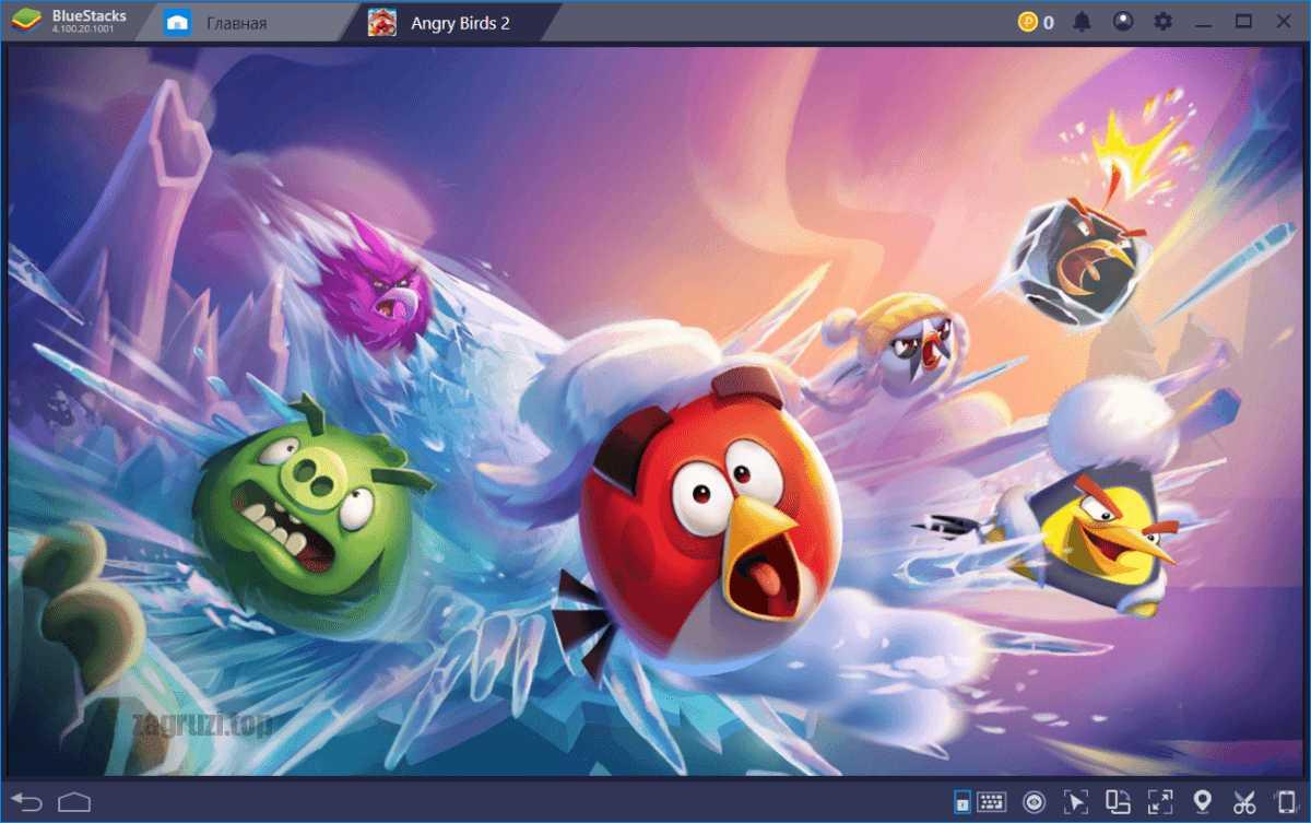 Запуск Angry Birds 2