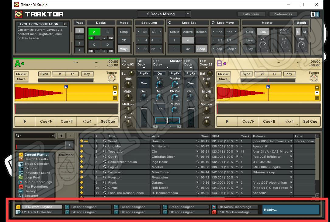 Дополнительные параметры Traktor DJ Studio