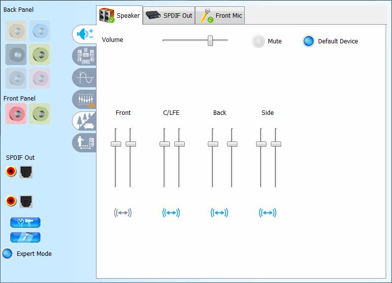 Настройки звука в VIA HD Audio Deck