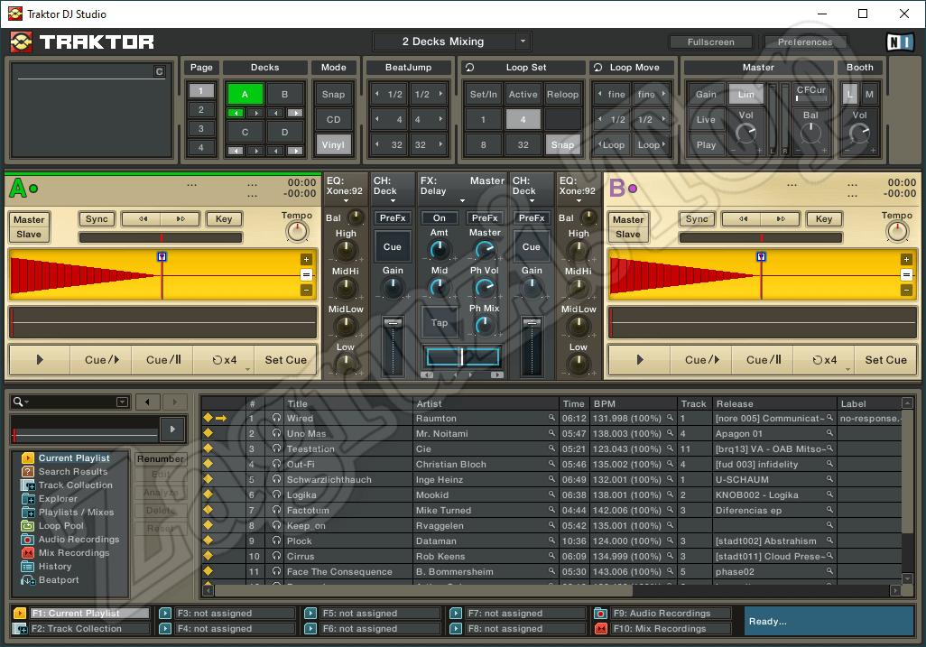 Программный интерфейс Traktor DJ Studio