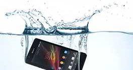 Телефон упал в воду
