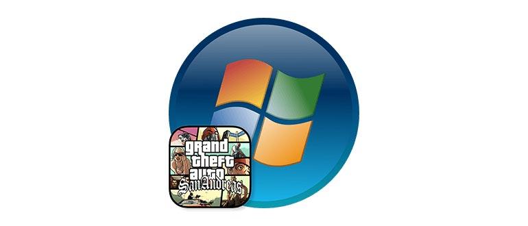 Логотип установки ГТА Сан Андреас на Windows 7