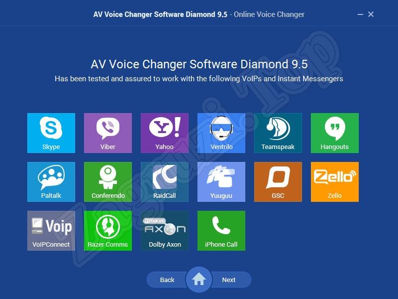 Интеграция AV Voice Changer Diamond с мессенджерами