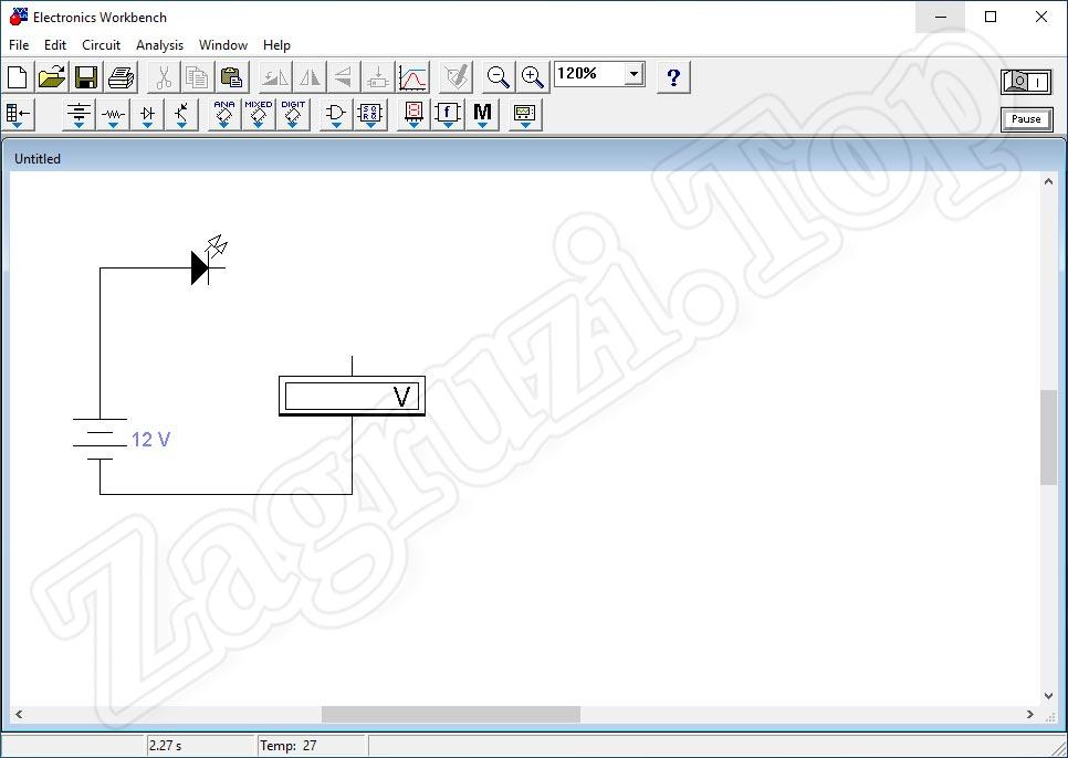 Удаление проводника в Electronics Workbench