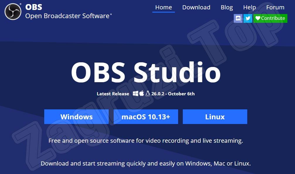 Официальный сайт OBS