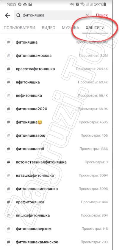 Популярные хештеги в TikTok