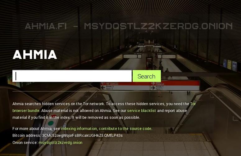 Поисковик для Tor Ahima