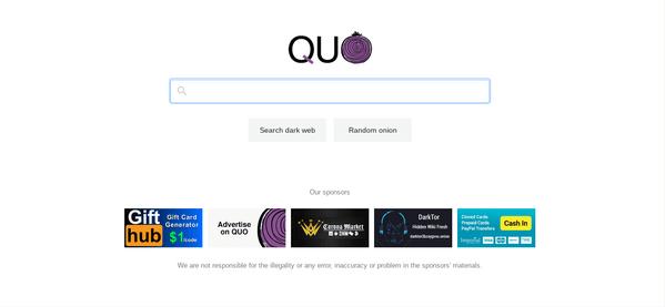 Поисковик для Tor QUO